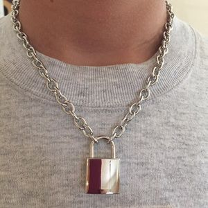 Other - Padlock/lock chain necklace